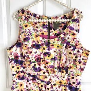 Taylor Dresses Dresses & Skirts - Taylor Multi-Color Floral Ruffle Dress Size 14 XL