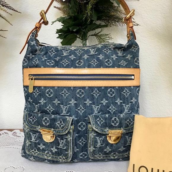 Louis Vuitton Bags   Lv Denim Baggy Gm   Poshmark 4cadfa8131
