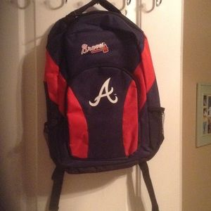 Other - NWT Atlanta Braves Youth Backpack