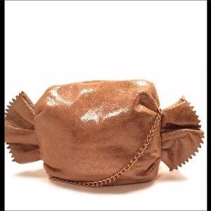 Pink Haley Handbags - Pink Haley Gold Candy Wrapper Clutch Purse