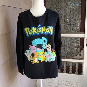 Pokemon Tops - Pokemon  black sweatshirt