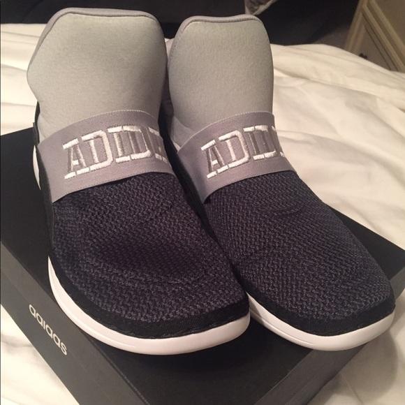 le adidas nero e grigio cloudfoam scarpe poshmark