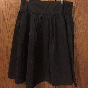Isaac Mizrahi Black A Line Crinkle skirt