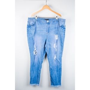 Distressed Fashion To Figure Jeans