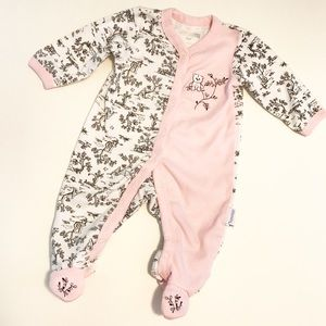 Vitamins Baby Other - French Toile ABC Bear Footie Bodysuit Pink Floral
