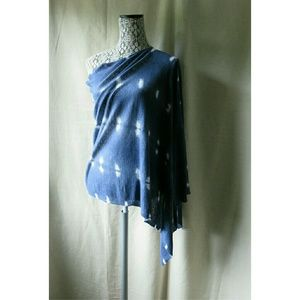 Acrobat Accessories - NWT Acrobat Blue Tie Dye Poncho Cover up Sm-Med