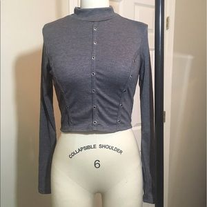 Fashion Nova Tops - Mock neck crop top