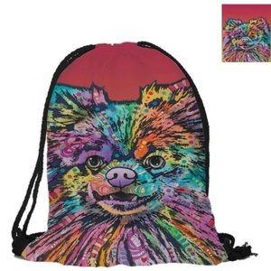 Pomeranian Drawstring Bag
