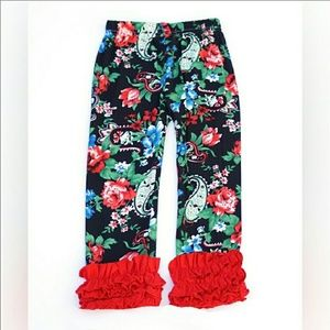 Other - Paisley Floral Ruffle Bottom Leggings 2T - 7