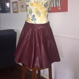 Line & Dot Dresses & Skirts - Vegan Leather Skater Skirt
