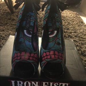 Brand new zombie heels from Iron Fist