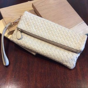 Urban expressions Woven Foldover clutch