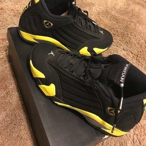 newest e81b6 1d0fe Jordan 14's (Black & Yellow) Sz 10 Men...