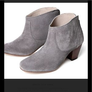 H By Hudson Shoes - NEW Hudson Kiver Suede Slate Ankle Heel Boot Shoe