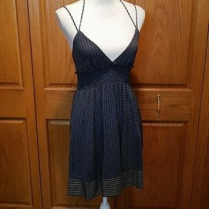NWOT Free People Mixed Print Strappy Dress