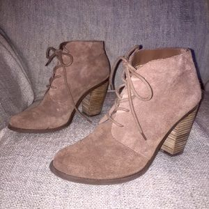 Jessica Simpson Shoes - Taupe suede booties