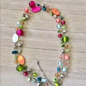 Jewelry - ✨NEW✨Bright Glass Bead & Paua Shell Necklace