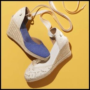 Soludos Shoes - Soludos Linen Espadrille Tall Wedge Sandal!