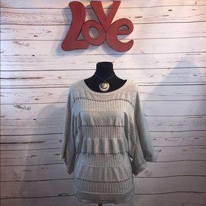Plenty grey lightweight sweater NWT m/l
