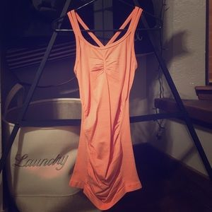 CALIA by Carrie Underwood Tops - Orange Strappy Runched Calia Tank