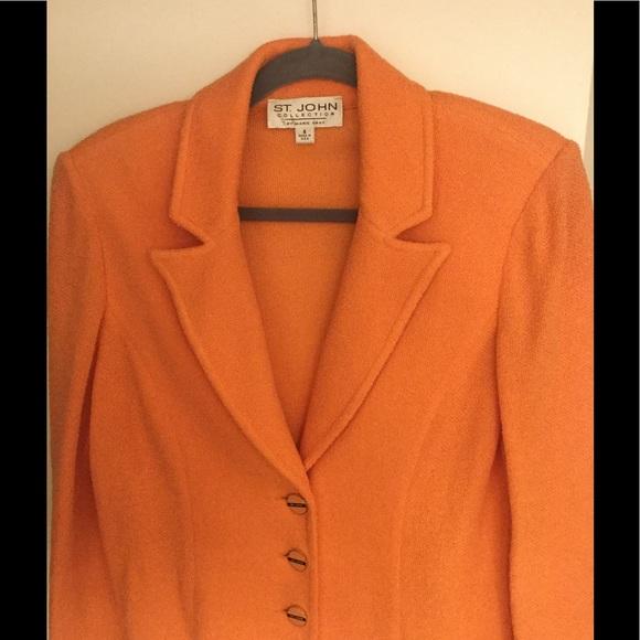 6605ea91cf St. John suit size 4 Tangerine 160.00. M_59460fff291a35471d0a0509