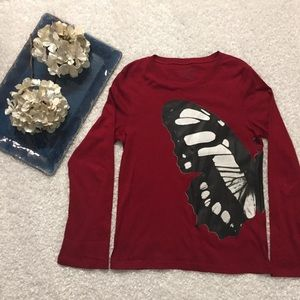 Norma Kamali Tops - NORMA KAMALI Butterfly Long Sleeve Organic Cotton