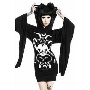 KILLSTAR Idol Hood Witch Dress Mini Occult Fashion