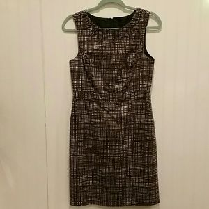 The Limited sz 6 Brown & White Sheath Dress