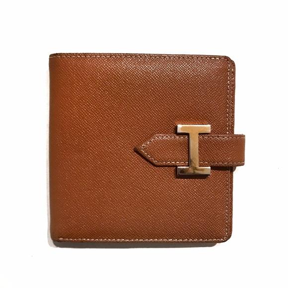 Hermes Handbags - Hermes Brown Compact Bearn Wallet a419441749372