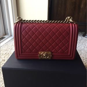 Authentic medium size Red Boy Chanel