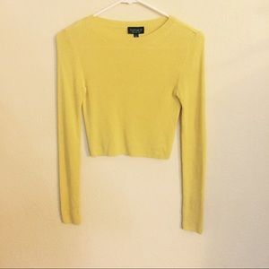 Topshop yellow cropped top