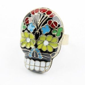 Jewelry - Skull art multicolor ring