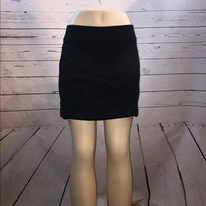 WHBM black mini skirt M