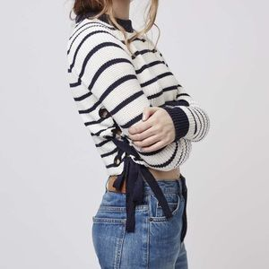 Topshop Sweaters - Topshop Striped Lace Up Sides