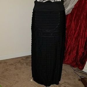 American City Wear Dresses & Skirts - American city wear xl black ruffle layers