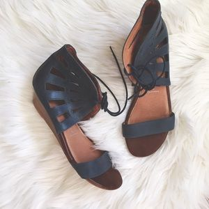 Jeffrey Campbell Shoes - Jeffrey Campbell Laser Cut Ankle Wedge Sandals