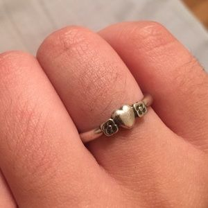 James Avery Jewelry - James Avery - Heart with Two Flowers Ring