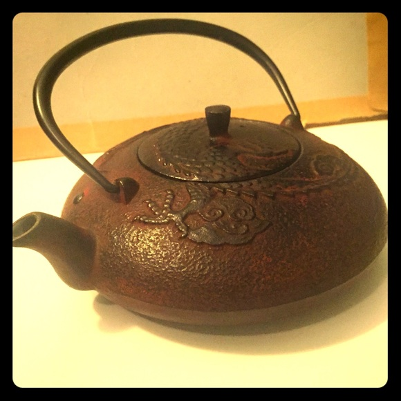 36 off teavana other teavana cast iron tea pot deep red dragon from hallie 39 s closet on - Cast iron teapot dragon ...
