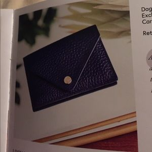 Dagne Dover Accessories - A Navy leather card case Box of Style