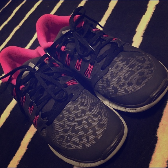 Hot Pink Cheetah Nike Shoes