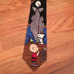 Peanuts Other - Charlie Brown & Snoopy fisherman tie