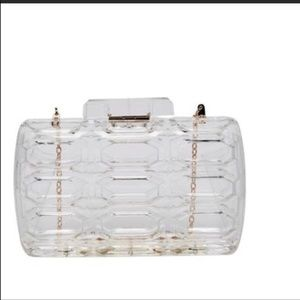 Pink Haley Handbags - Pink Haley Clear Clutch Purse