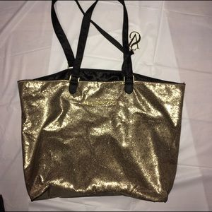 VS Gold Glitter Large Tote