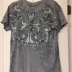 Affliction Other - Affliction designer M gray shirt