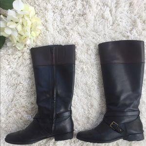 Lauren Ralph Lauren Shoes - Ralph Lauren Brown and Black Riding Boots