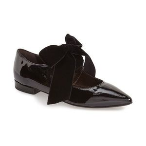 Agl Shoes - AGL Pointy Bow Tie Flats in Real Patent Leather.