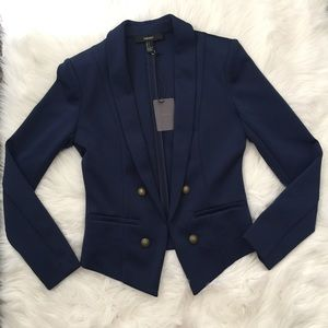 Jackets & Blazers - NWT Navy Blue Fashionable Tuxedo Blazer Padded S