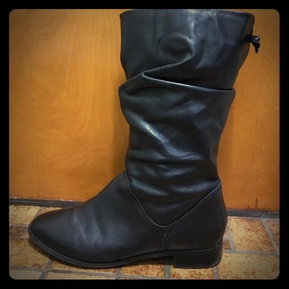 9b82c898eaa Black Leather Dune London Rosalind boots, size 10