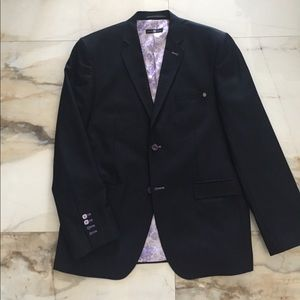 Stone Rose Other - STONE ROSE navy sport jacket with floral lining.