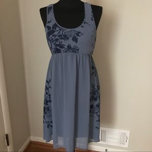 Urban Outfitters Dresses & Skirts - Blue Sleeveless Floral Print Dress